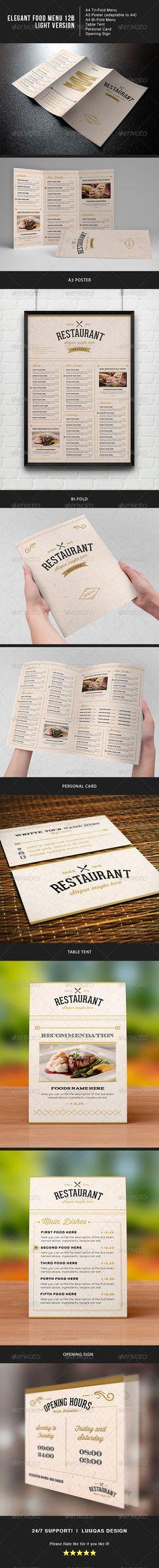 Elegant Food Menu 6 Food menu template, Menu templates and Food menu