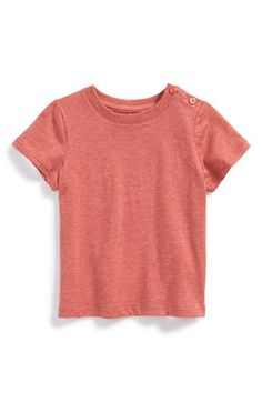 Free shipping and returns on Vince 'Favorite' Pima Cotton T-Shirt (Baby Boys) at Nordstrom.com. A heathered finish and button embellishments add to the casual appeal of a classic crewneck T-shirt cut from soft pima cotton.