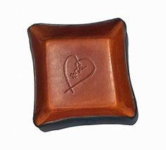 60850bbe9a0e eBay  Sponsored 3rd Anniversary Gift Leather Tray. Distressed Leather Valet  with Heart. 3rd
