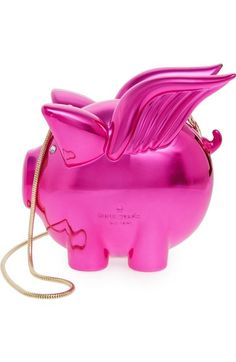 KATE SPADE When Pigs Fly Frame Clutch. #katespade #bags #shoulder bags #clutch #lining #hand bags #
