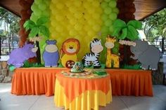 Alquilo Bellos Animales D La Jungla Safari + El Bienvenidos (Otros ... Safari Theme Birthday, Jungle Theme Parties, Jungle Party, Safari Party, Baby Birthday, 1st Birthday Parties, Lion King Baby Shower, Baby Boy Shower, Animal Party