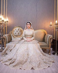 """The richness of this lehenga is remarkable"" Asian Wedding Dress Pakistani, Asian Bridal Dresses, Pakistani Bridal Couture, Bridal Mehndi Dresses, Wedding Dresses For Girls, Bridal Outfits, Bridal Lehenga, Indian Bridal, Punjabi Wedding"