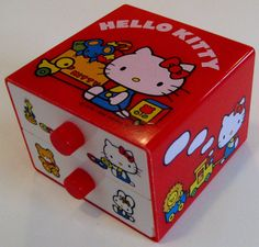 LOVE RETRO! Next Nursery?   Hello Kitty Jewelry Drawers by TheElegantArtist on Etsy, $25.00