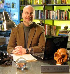 Sci-fi author Robert J. Sawyer - www.sfwriter.com. Author of the sci-fi Hominids trilogy.