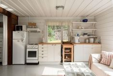 Kitchen Cabinets, Cottage, Table, Furniture, Home Decor, Beach, Google, Summer, House