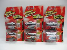 2005 Johnny Lightning RC2 60's Sizzle Lot of 6 White Lightning Complete #50156B #RC2