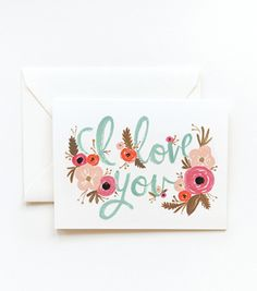 I Love You Card - Color inspiration for the nursery