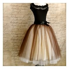 Brown and cream tutu for women. One of our popular tulle skirts, now... ❤ liked on Polyvore
