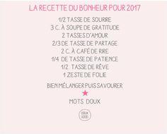 Mots doux by Doux Good : la recette du bonheur pour 2017 #MotsDoux #DouxGood #bienêtre #voeux #2017 #cosmétiques #bio #beauté #naturelle