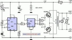 3000 Watt Inverter Circuit Diagram to complete pcb layout design. High power inverter circuit diagram see here for more information. Simple Electronic Circuits, Electronic Circuit Design, Electronic Engineering, Electrical Engineering, Electrical Projects, Electrical Wiring, Electrical Appliances, Electronics Basics, Electronics Projects