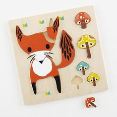 Wildlife of the Party Puzzle (Fox), designed by Crowded Teeth for The Land of Nod