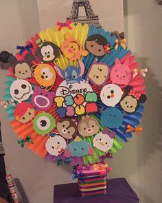 Tsum Tsum Birthday Cake, Tsum Tsum Party, Disney Tsum Tsum, Toy Story Costumes, Disney Classroom, Disney Princess Birthday, Tsumtsum, Dragon Party, Diy Birthday Decorations