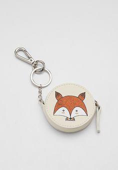 coin purse handbag charm with fox graphic   maurices