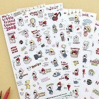 Material:PVC Size:9.2*19.7cm  Package:6 pcs/set paper stickers