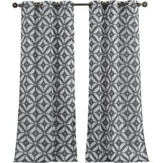 Dress your window in style with this eye-catching curtain panel, featuring a concentric diamond motif in a steel hue.  Product: ...