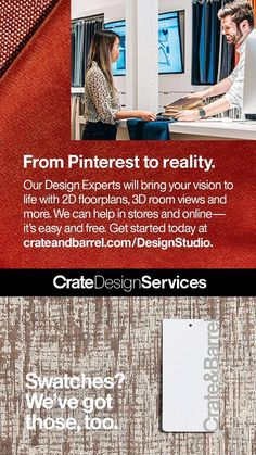 Let our Design Experts help bring your vision to life with tools that make it easy to design in stores and online for free. Plus, get five free fabric swatches to help you decide on the right color and feel for your family. #CrateAndBarrel #Design #HomeDesign #DesignServices #DesignHelp #MoodBoards #LivingRoom #LivingRoomDesign #FurnitureDesign #Fabric #InteriorDesign Metal Walls, Metal Wall Art, Roman Clock, Metal Clock, Free Fabric Swatches, Girl Bedroom Designs, Aesthetic Room Decor, Wall Art Designs, Crate And Barrel