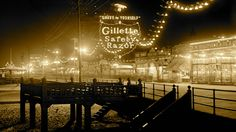 Atlantic City - The Boardwalk At Night 1910 by TheRoaring20s.deviantart.com