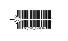 Barcode Bullet Stencil