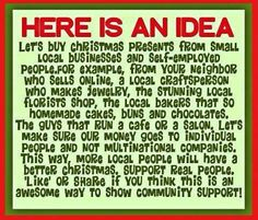 Support Small Business Saturday on November Support your local small businesses! Buy Local, Shop Local, Holiday Gift Guide, Holiday Gifts, Christmas Presents, Christmas Trimmings, Winter Holiday, Small Business Saturday, Think