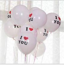 12 polegadas Eu TE AMO Imprimir Globos Balões De Látex De Aniversário de Casamento Para O Amante Dos Namorados Dias Decorar Balão Brinquedos(China (Mainland))