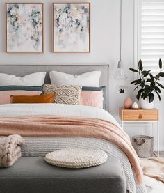 Cute Pink Bedroom Design For Your Valentines Day 03 Suites, Dream Bedroom, Minamilist Bedroom, Blush Bedroom Decor, Bedroom Furniture, Bedroom Inspo Grey, Pink Master Bedroom, Bedroom Decor On A Budget, Modern Bedroom Decor