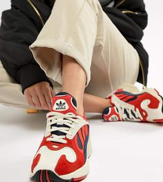 brand new 76d74 59037 adidas originals yung 1 trainers in red
