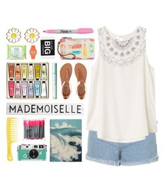 """""""Summer Style"""" by lover-of-pie ❤ liked on Polyvore featuring Rosanna, H&M, Topshop, RVCA, Simple, Billabong, Sharpie, Casio, Kate Spade and Monsoon"""