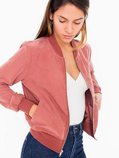 Amelia Jacket by American Apparel, $88. 72% modal and 28% polyester (faux silk).
