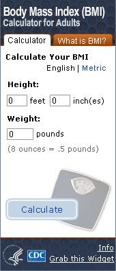 BMI For Adults. Flash Player 9 is required. Calculate your body mass index.