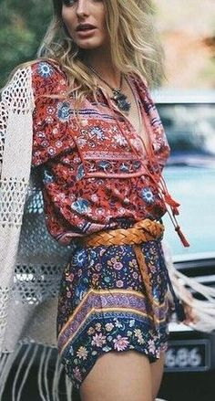 #spellandthegypsycollective #boho #outfits    Mix Print Boho Outfit