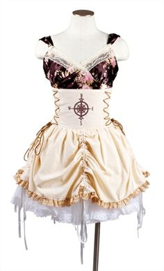 Picture of Steampunk Compass Double Corset Waisted Bustle Skirt