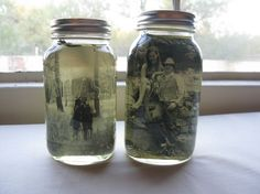 How to: Vintage Pictures in Mason Jar