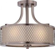 Really Love this one- possible dining room chandelier- Nuvo 60/4792 Fusion Hazel Bronze Semi-Flush - Amazon.com