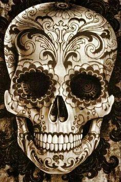Die 8 Besten Bilder Von Tattoos Schadelkunst Mexikanisches Tattoo