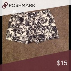"Like new Loft shorts. Black and cream floral shorts with 4"" inseam. Rarely worn so in like new condition. LOFT Shorts"