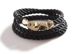 the endeavor: three strand twisted rope with brummel hardware in polished brass