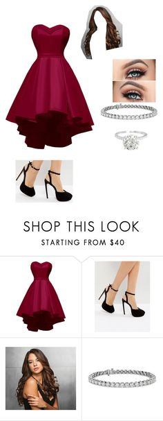 """""""Untitled #729"""" by kjp456 ❤ liked on Polyvore featuring ASOS, Ken Paves and Blue Nile"""