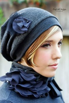 Adore the hat & scarf!  Reminds me of @Brittany Horton Horton Ryan & her cute hat made out of a t-shirt!