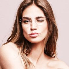 Associates the conceptual language of machinery and art. Silhouette Eyewear, Silhouette Glasses, Round Gold Frame Glasses, Glasses Frames, Womens Glasses, Ladies Glasses, Rimless Glasses, Optical Eyewear, Men Eyeglasses