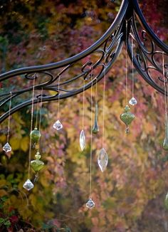Ohhh, crystals or pretty clear ornaments to decorate in the gazebo!