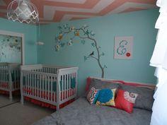 Project Nursery - Chevron Ceiling Nursery Room View