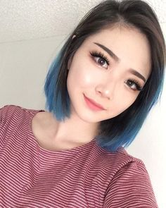 Hair ideas - Blue Tips