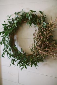love this wreath! #bridalshower http://www.weddingchicks.com/2013/11/21/peach-and-mint-bridesmaid-luncheon/