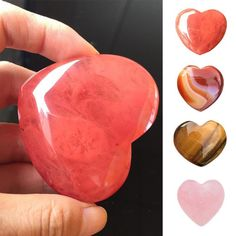 Natural Heart Shaped Stone Rose Quartz Striped Agate Crystal Carved Palm Love Healing Gemstones 2 Sizes Small Stone – Home & Garden Crystals And Gemstones, Stones And Crystals, Natural Gemstones, Rose Quartz Heart, Rose Quartz Crystal, Healing Stones, Crystal Healing, Healing Herbs, Chakra Healing