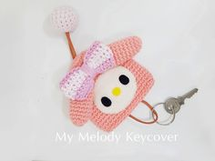 Mymelody key cover by crochetlike on Etsy