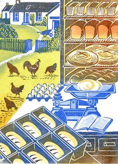 Clare Melinsky | Illustrator | Central Illustration Agency #illustration #print #printmaking #linocut Illustrators, Fine Art, Illustration, Print Making, Clare, Linocut, Art, Lino Print, Prints