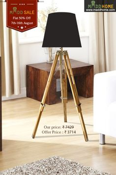 Independence Day Special....Flat 50% Off..!!! #MaddHome #HomeDecor #TableLamps