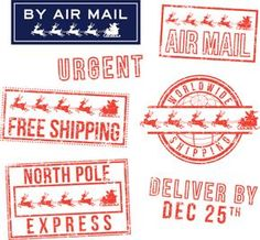 Santas special delivery printable gift tags by north pole postage negle Choice Image