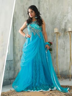 You may be searching for a prudent dress but are facing problems finding color you truly desire. That's where this elegant, #bluegown comes into the picture. Get it today from #Ftrendy.