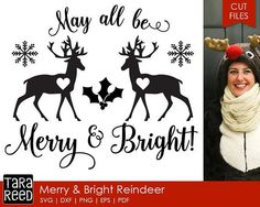 Merry and Bright svg / Christmas svg / svg files / svg for